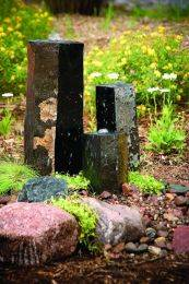 Aquascape Stone Fountain - 3 Semi-Polished Stone Basalt Columns - EXTRA FREIGHT CHARGES APPLY