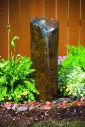 "Aquascape Stone Fountain - Natural Mongolian Basalt Column, 24"" - EXTRA FREIGHT  CHARGES APPLY"