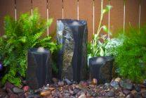 Aquascape Stone Fountain - Double Textured Basalt Cored Water Columns - EXTRA FREIGHT CHARGES APPLY